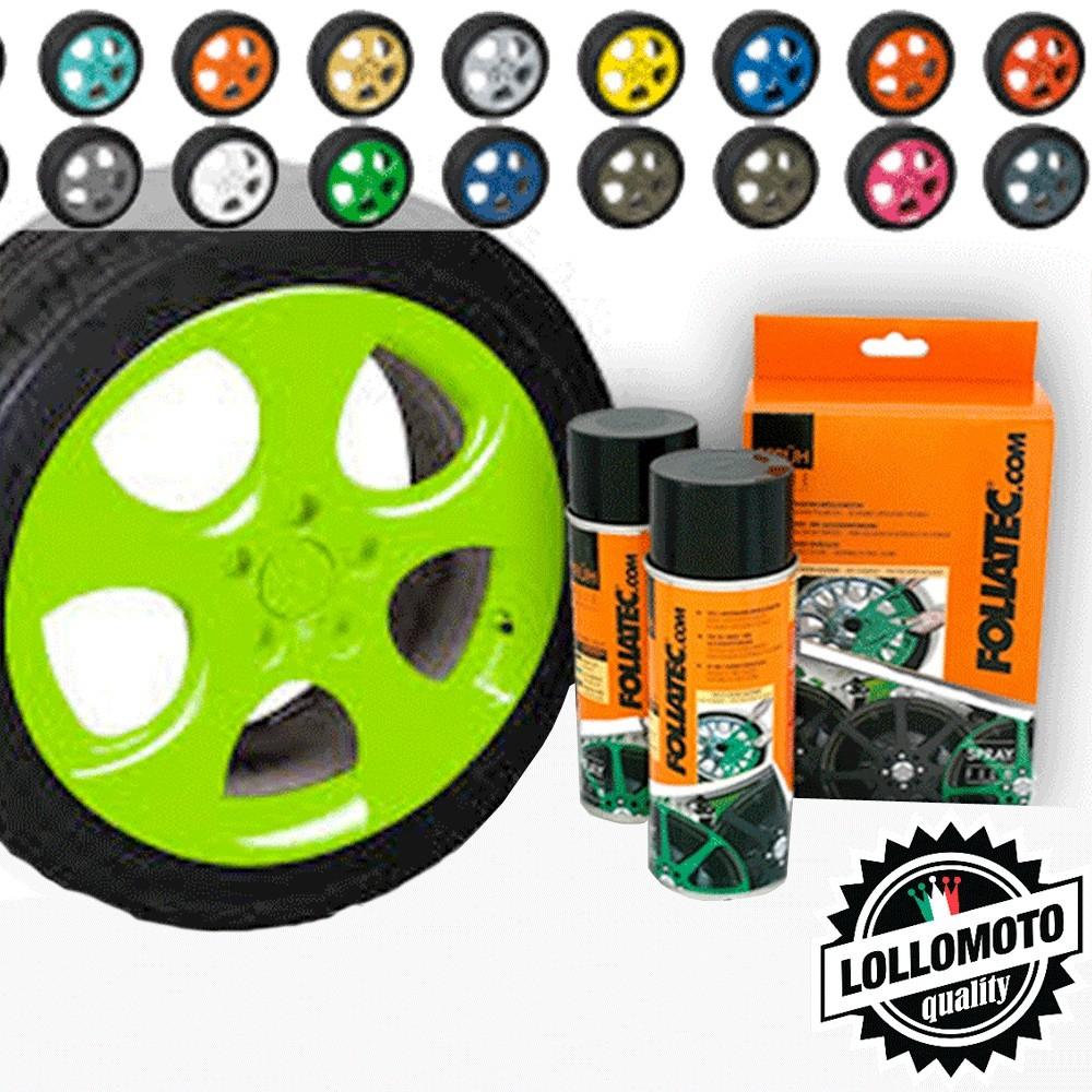Verde Fluo Bomboletta Spray Foliatec Vernice Rimovibile
