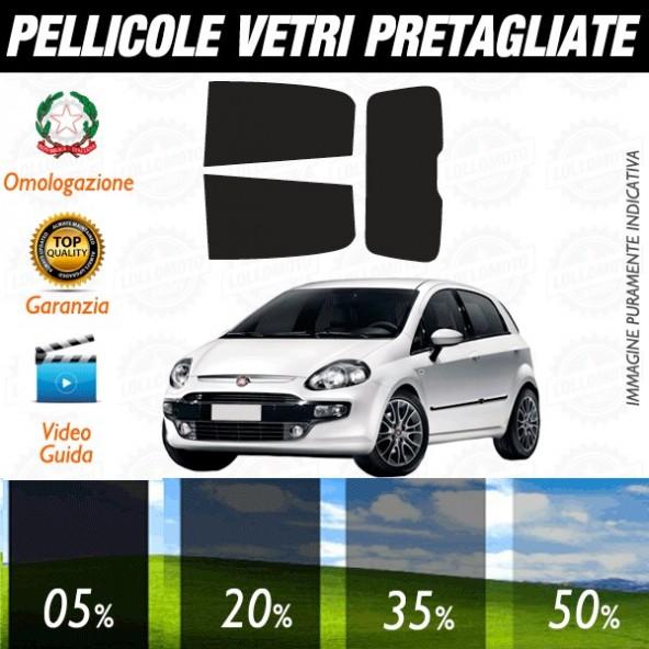 Fiat Grande Punto 5P dal 2006 ad OGGI Pellicole Oscuramento Vetri Posteriori Auto Pre Tagliate a Misura