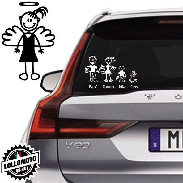 Bimba Angelo Vetro Auto Famiglia StickersFamily Stickers Family
