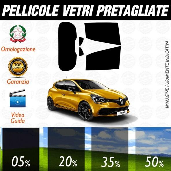 Renault Clio dal 2012 ad OGGI Pellicole Oscuramento Vetri Auto Pre Tagliate a Misura Posteriore