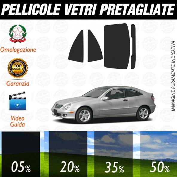 Mercedes Classe C Coupè dal 2002 al 2007 Pellicole Oscuramento Vetri Auto Pre Tagliate a Misura Posteriore