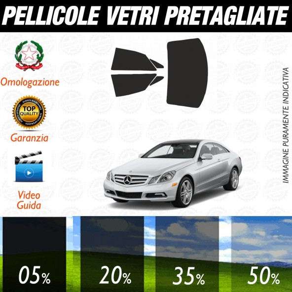 Mercedes Classe E Coupé dal 2010 al 2015 Pellicole Oscuramento Vetri Auto Pre Tagliate a Misura Posteriore