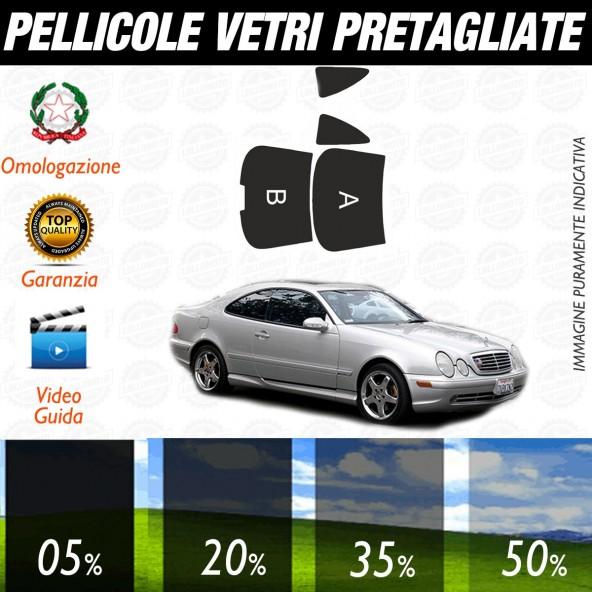 Mercedes CLK dal 1997 al 2002 Pellicole Oscuramento Vetri Auto Pre Tagliate a Misura Posteriore