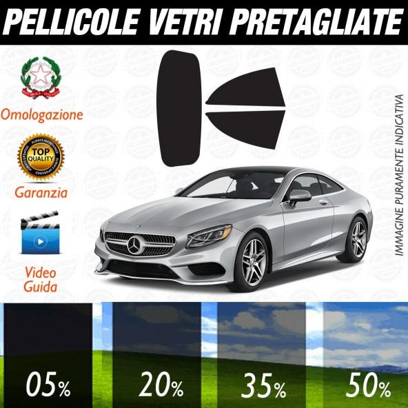 Mercedes Classe S Cabrio dal 2016 al 2017 Pellicole Oscuramento Vetri Auto Pre Tagliate a Misura Posteriore