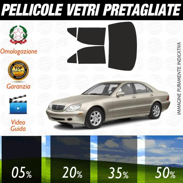 Mercedes Classe S dal 2002 al 2006 Pellicole Oscuramento Vetri Auto Pre Tagliate a Misura Posteriore