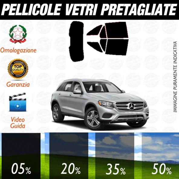 Mercedes GLC dal 2015 al 2017 Pellicole Oscuramento Vetri Auto Pre Tagliate a Misura Posteriore