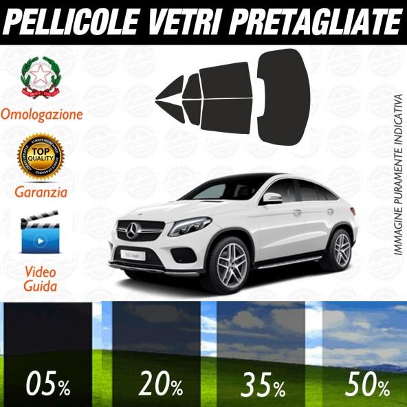 Mercedes GLE Coupé dal 2015 al 2017 Pellicole Oscuramento Vetri Auto Pre Tagliate a Misura Posteriore