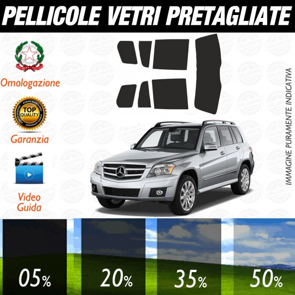 Mercedes GLK  dal 2009 al 2011 Pellicole Oscuramento Vetri Auto Pre Tagliate a Misura Posteriore