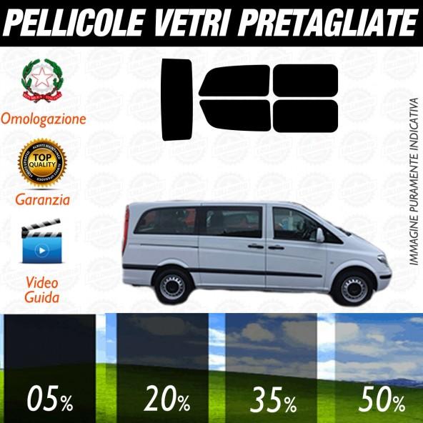 Mercedes Vito Traveliner dal 2004 al 2006 Pellicole Oscuramento Vetri Auto Pre Tagliate a Misura Posteriore