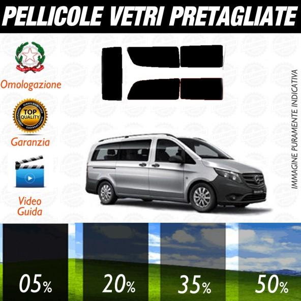 Mercedes Vito Extra Long dal 2014 ad OGGI  Pellicole Oscuramento Vetri Auto Pre Tagliate a Misura Posteriore