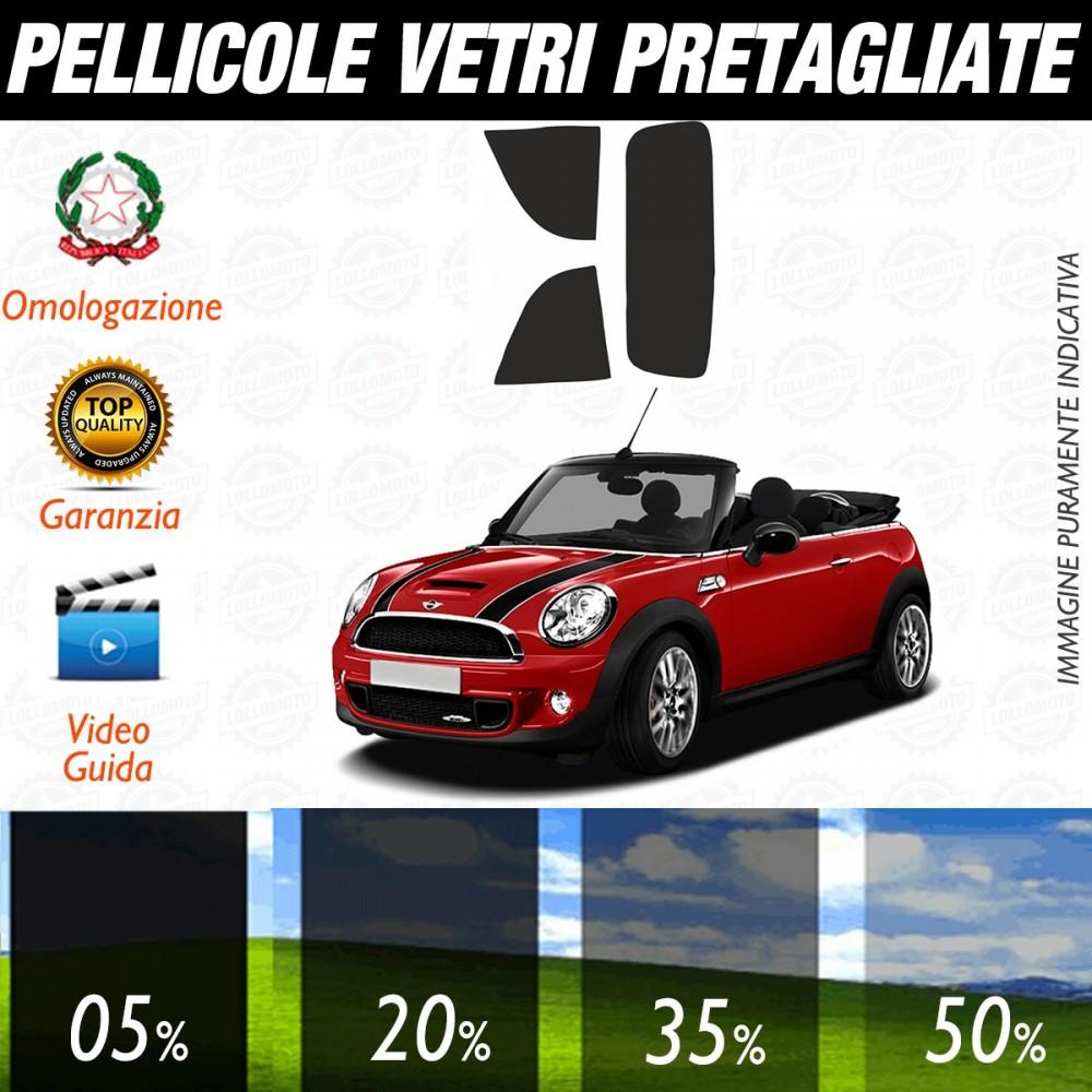 Mini Cabrio dal 2008 al 2015 Pellicole Oscuramento Vetri Auto Pre Tagliate a Misura Posteriore