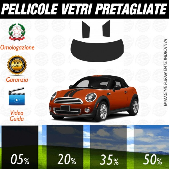 Mini Coupé dal 2012 al 2015 Pellicole Oscuramento Vetri Auto Pre Tagliate a Misura Posteriore
