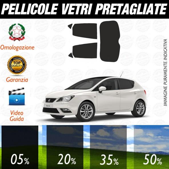 Seat Ibiza 5P dal 2008 al 2016  Pellicole Oscuramento Vetri Auto Pre Tagliate a Misura Posteriore