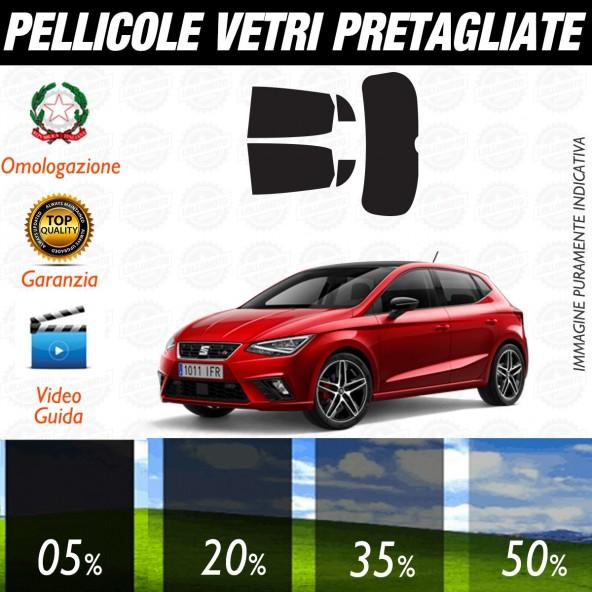Seat Ibiza 5P dal 2017 ad OGGI  Pellicole Oscuramento Vetri Auto Pre Tagliate a Misura Posteriore