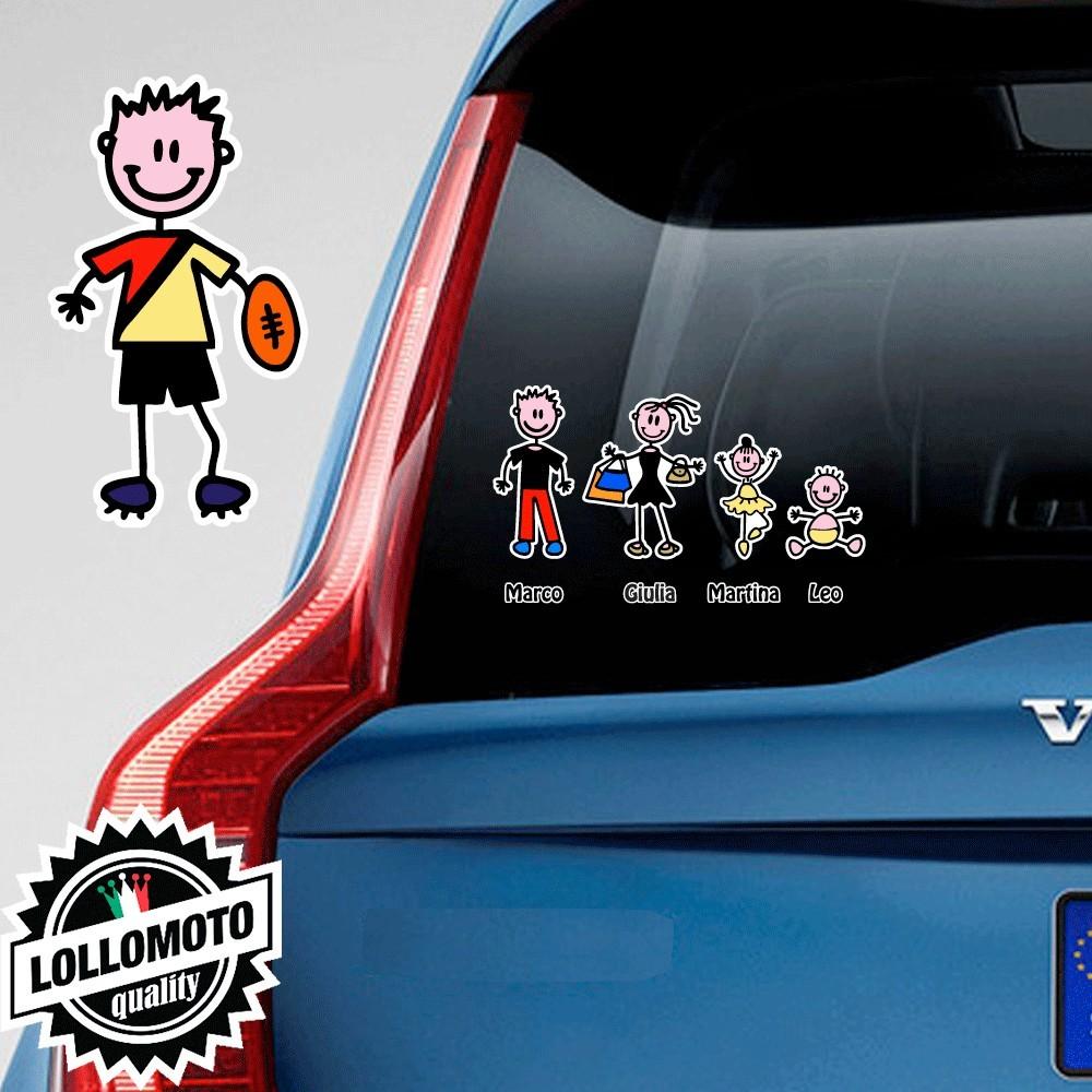 Bimbo Con Pallone Adesivo Vetro Auto Famiglia Stickers Colorati
