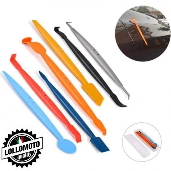 7 Micro Spatole di Precisione per Car Wrapping Magnetiche con Custodia Professionali Accessori Wrapping