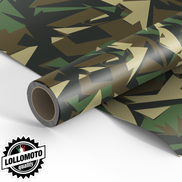 pellicola car wrapping mimetico camouflage geometrico