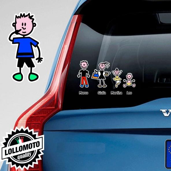 Bimbo Con Dita Nel Naso Adesivo Vetro Auto Famiglia Stickers Colorati Family Stickers Family Decal