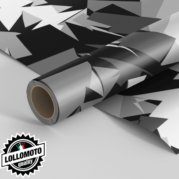 Pellicola ABSTRACT-GREY-MILITARY-CAMOUFLAGE Pellicola Car Wrapping Adesiva Rivestimento Auto