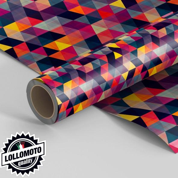 Pellicola TRIANGLE-TEXTUR-COLOUR-Pellicola Car Wrapping Adesiva Rivestimento Auto