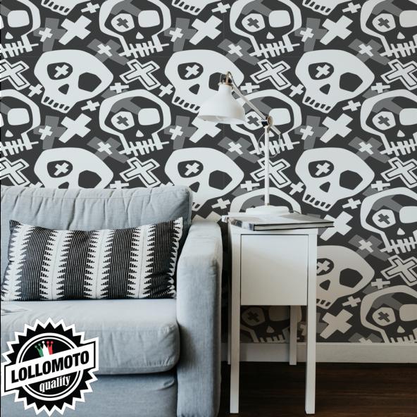 Carta da Parati Adesiva-Personalizzata-Teschi Interior Design Arredamento Personalizzato Wall Paper