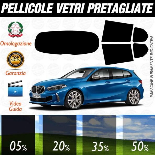 BMW Serie 1 5 Porte dal 2019 ad OGGI Pellicole Oscuramento Vetri Auto Pre Tagliate a Misura