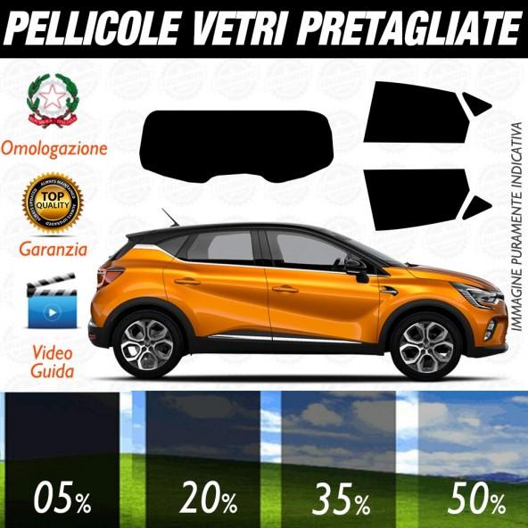 Renault Captur dal 2020 ad OGGI Pellicole Oscuramento Vetri Auto Pre Tagliate a Misura