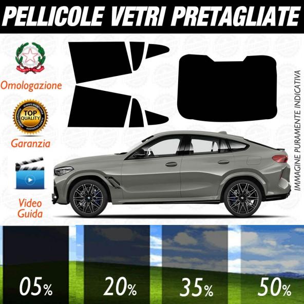BMW X6 dal 2020 ad OGGI Pellicole Oscuramento Vetri Auto Pre Tagliate a Misura