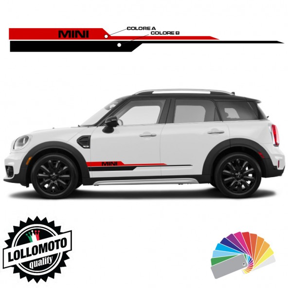 Strisce Fiancate Adesivi MINI COUNTRYMAN Cooper S SD ONE Mod. TITAN Personalizzate Stickers Decal Accessori Auto