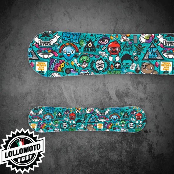 Adesivo Tavola Snowboard Sticersbomb Hipster Personalizzata