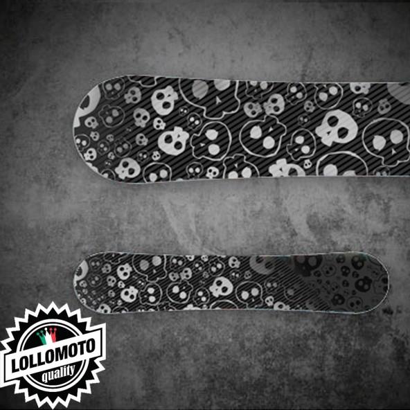 Adesivo Tavola Snowboard Skull STK01 Personalizzata Wrapping