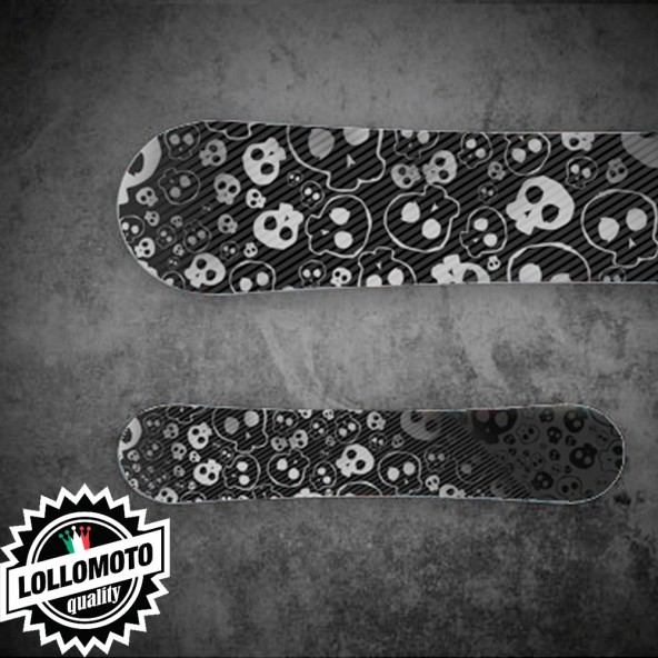 Adesivo Tavola Snowboard Skull STK01 Personalizzata Wrapping Stickers Decal