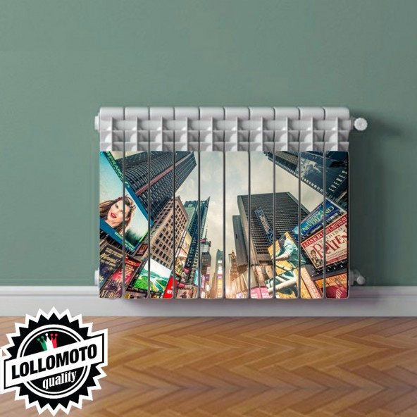 Adesivo Termosifone NEW YORK COOL Rivestimento Adesivo Laminato Stickers Termosifone Wrapping Interior Design