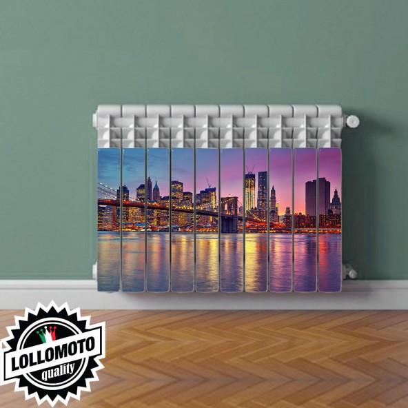 Adesivo Termosifone NEW YORK Rivestimento Adesivo Laminato Stickers Termosifone Wrapping Interior Design