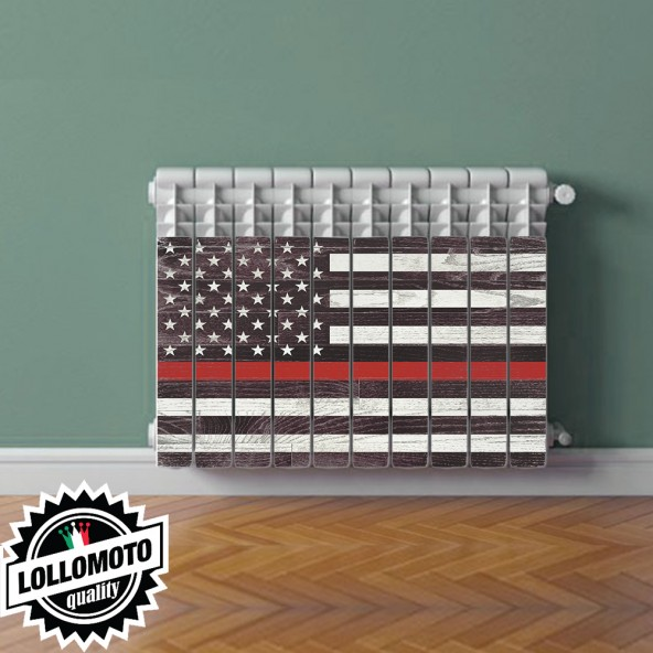 Adesivo Termosifone AMERICAN FLAG Rivestimento Adesivo Laminato Stickers Termosifone Wrapping Interior Design
