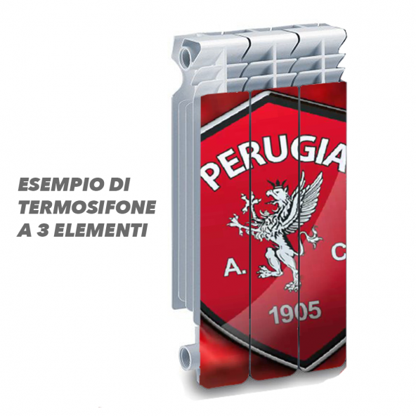 Termosifone PERUGIA Rivestimento Adesivo Laminato Stickers Termosifone Wrapping Interior Design
