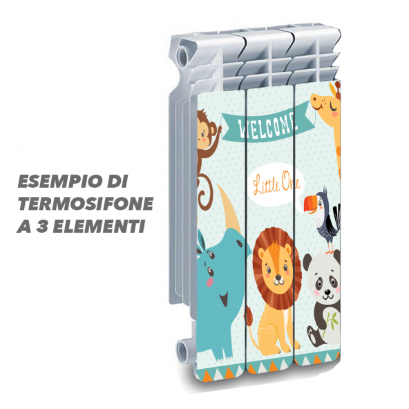 Termosifone WELCOME LITTLE ONE Rivestimento Adesivo Laminato Stickers Termosifone Wrapping Interior Design