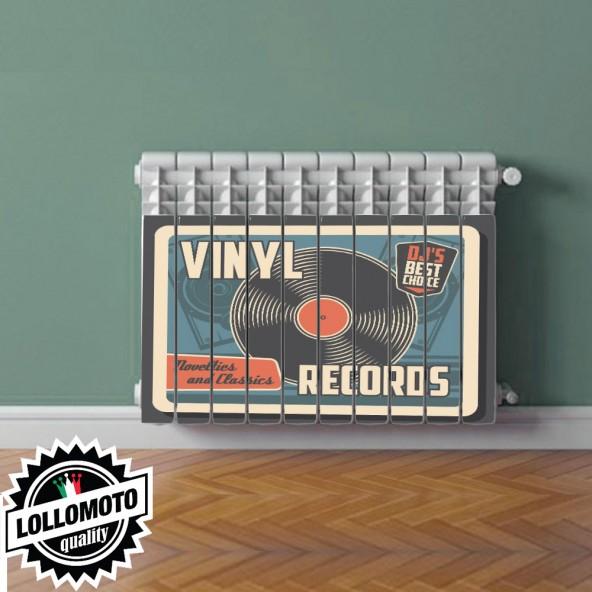 Termosifone VINYL RECORD Rivestimento Adesivo Laminato Stickers Termosifone Wrapping Interior Design