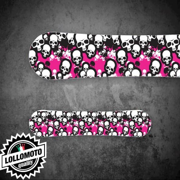 Adesivo Tavola Snowboard Teschio Pink Personalizzata Wrapping Stickers Decal