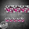 Adesivo Tavola Snowboard Teschio Pink Personalizzata Wrapping