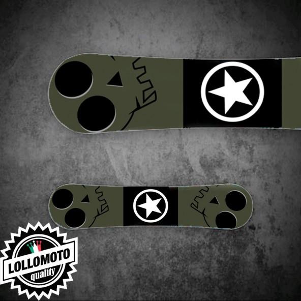 Adesivo Tavola Snowboard Verde Opaco Militare Personalizzata Wrapping Stickers Decal