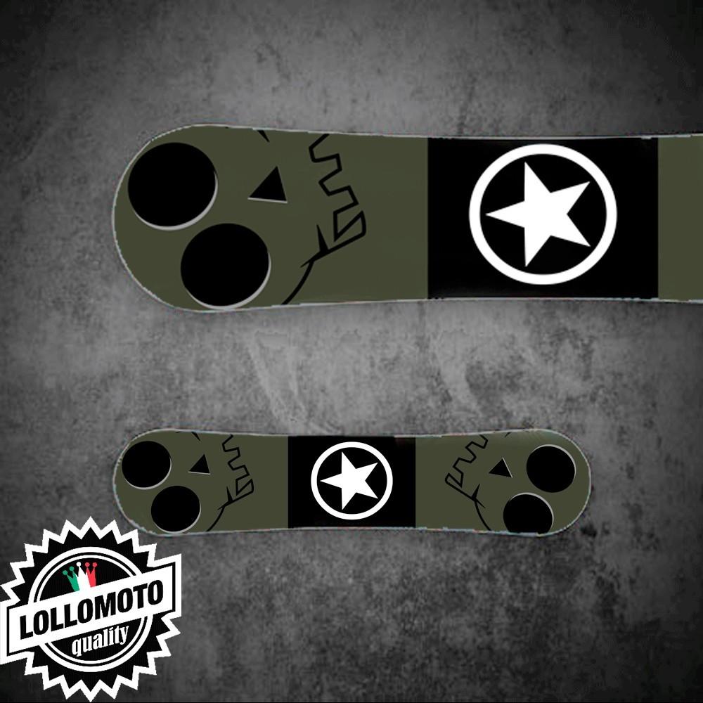 Adesivo Tavola Snowboard Verde Opaco Militare Personalizzata