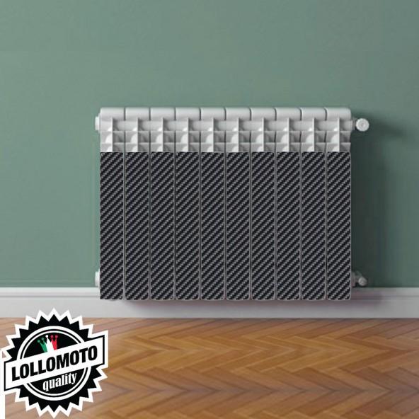 Termosifone CARBON REALISTIC Rivestimento Adesivo Laminato Stickers Termosifone Wrapping Interior Design
