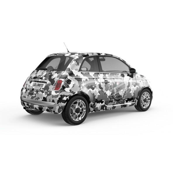 Pellicola INK ARTIC Pellicola Car Wrapping Mimetica Camo Bianco e Nero Adesiva Rivestimento Auto