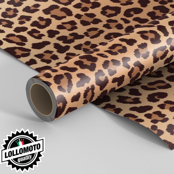 Pellicola LEOPARD CLASSIC Pellicola Car Wrapping Leopardata Adesiva Rivestimento Auto