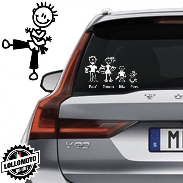 Bimbo Karate Vetro Auto Famiglia StickersFamily Stickers Family Decal
