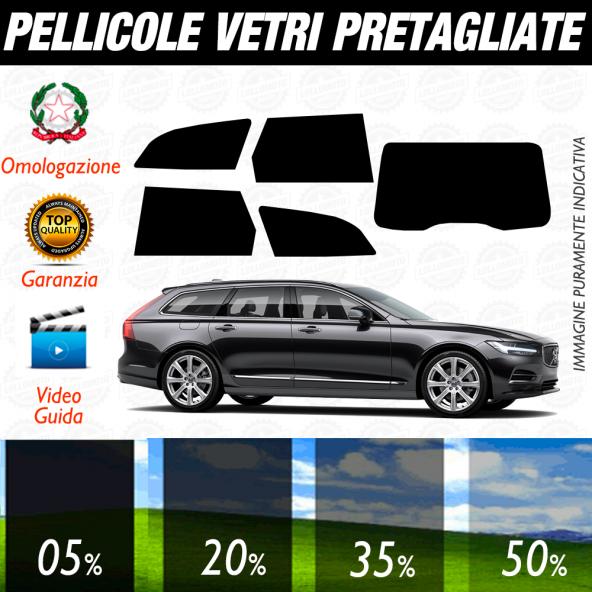 VOLVO V90 dal 2017 al 2019 SW Pellicole Oscuramento Vetri Posteriori Auto Pre Tagliate a Misura