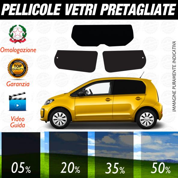 VolksWagen UP 5 Porte dal 2011 ad OGGI Pellicole Oscuramento Vetri Auto Pre Tagliate a Misura