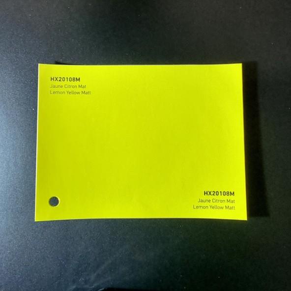 HEXIS SKINTAC HX20000 LEMON YELLOW MATT FILM CAST PELLICOLA CAR WRAPPING PROFESSIONALE
