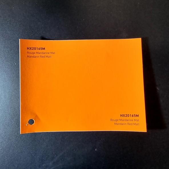 HEXIS SKINTAC HX20000 MANDARIN RED MATT FILM CAST PELLICOLA CAR WRAPPING PROFESSIONALE